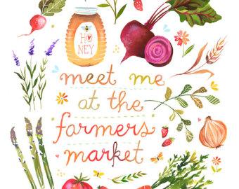 Farmers Market Print .