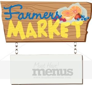 Farmers Market Sign Clipart