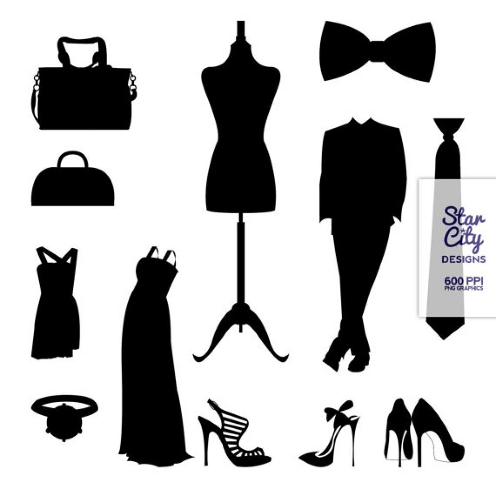 Fashion clip art for scrapbooking starcitydesigns