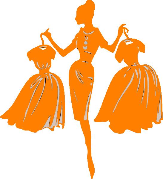 Fashion clothing women dresses clip art at vector clip image