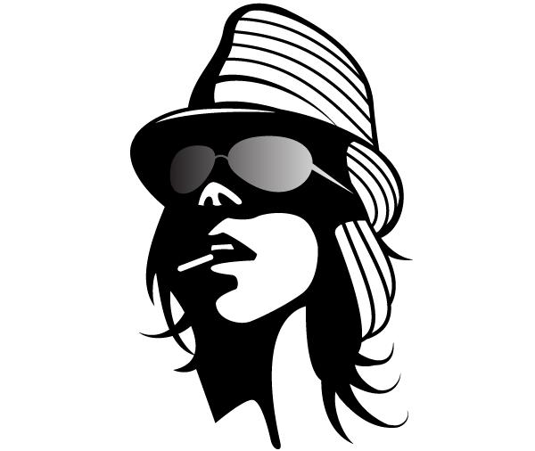 Fashion Girl Vector Clip Art 123freevectors