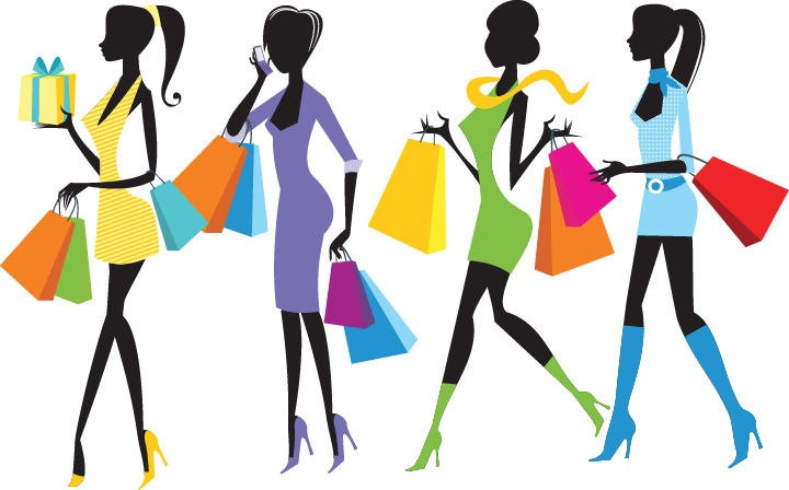 Fashion Shopping Girls Illustration Free Vector Graphics All Free