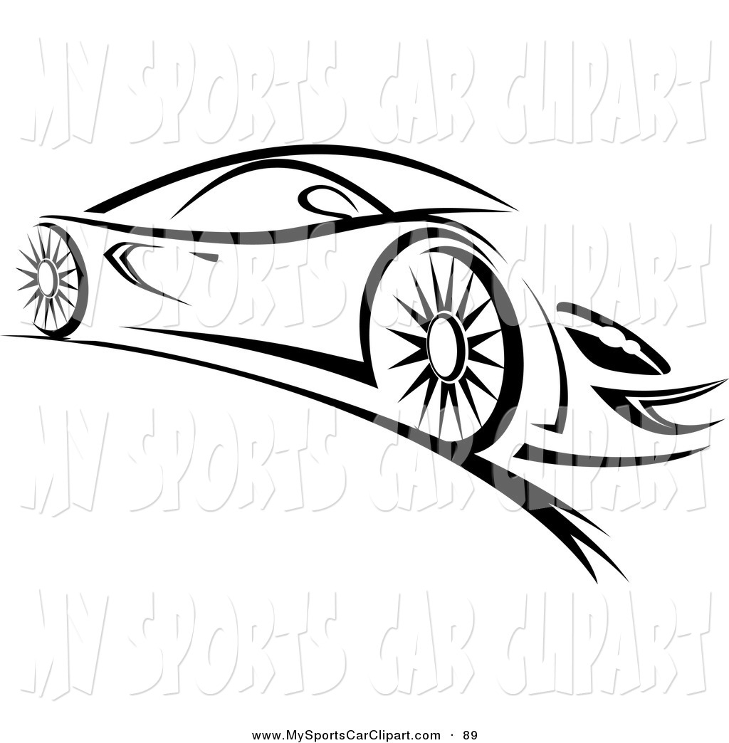 Fast Car Clipart Black And .. - Fast Car Clipart