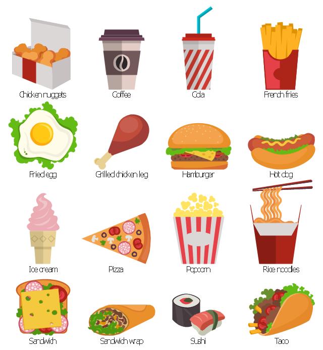 Fast food clip art, wrap, sandwich wrap, shawarma, burrito, fajitas,