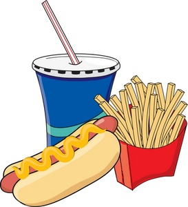 Fast Food Clipart Black And White Fast Food Hot Dog French Fries And A