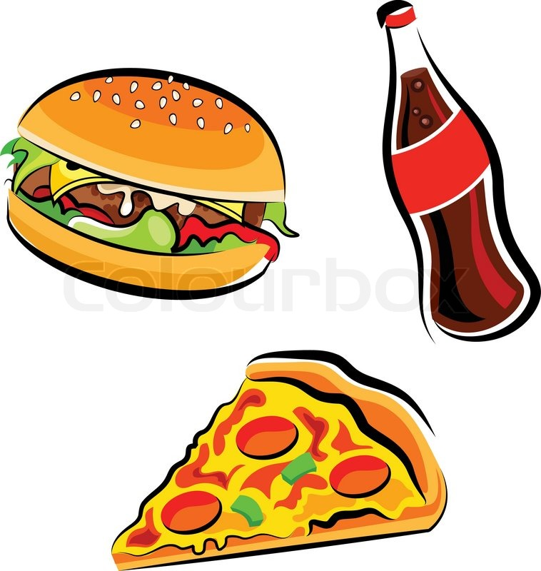 Fast food clipart, vector