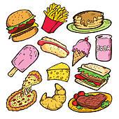 Fast Food Elements U0026middot; Junk Foo-Fast food elements u0026middot; junk food doodle-12