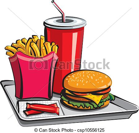 fast food meal Clip Artby ...