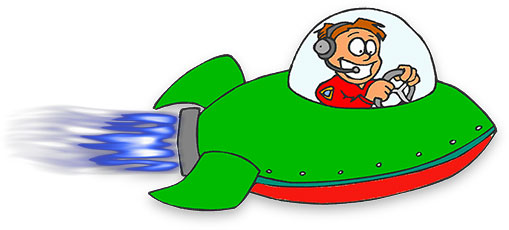 fast spacecraft on the move - Space Ship Clipart