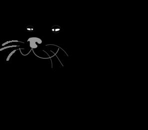 Fat Black Cat Clip Art
