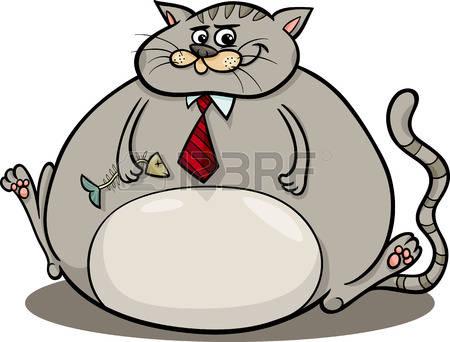 fat cat: Cartoon Humor Concept .