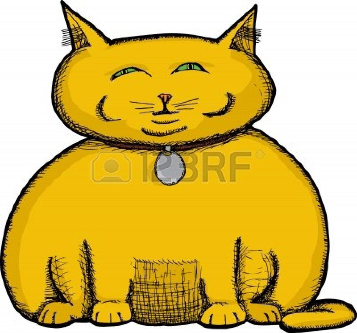 Fat Cat Clip Art