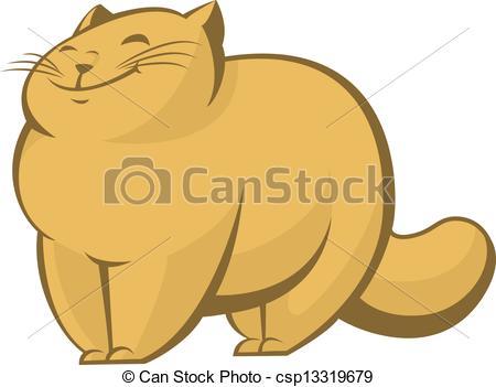 Fat cat - csp13319679