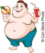 ... Fat Man With Fast Food Isolated On W-... Fat man with fast food isolated on white background-13