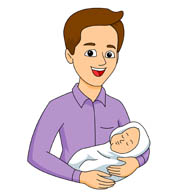 Father And Baby Clipart. father clipart