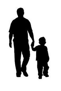 Father And Son Silhouette-father and son silhouette-13