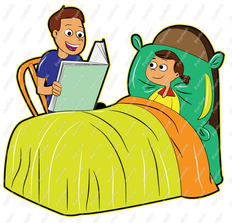 Father Reading To Daughter Bedtime Story-Father Reading To Daughter Bedtime Story-11