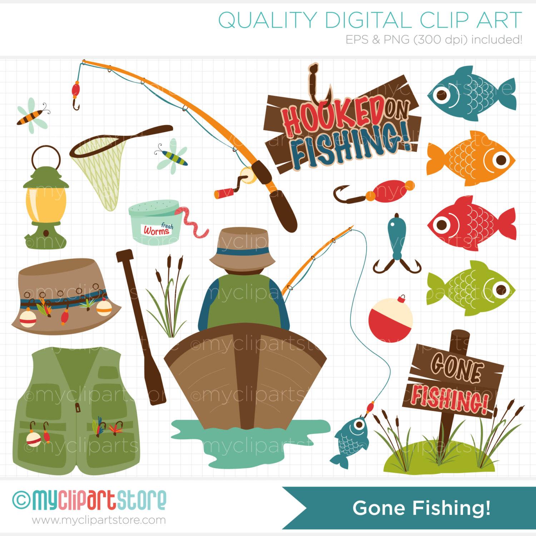 Gone fishing clip art