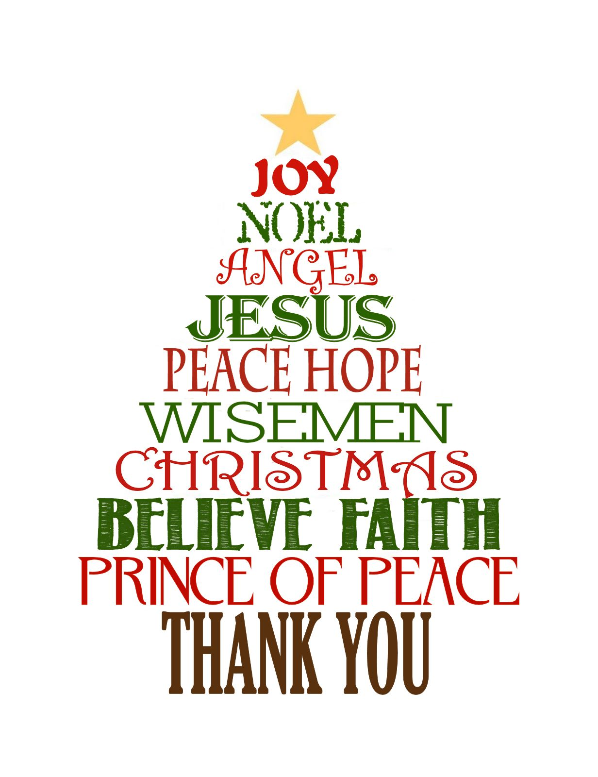 84+ Thank You Clipart Christmas