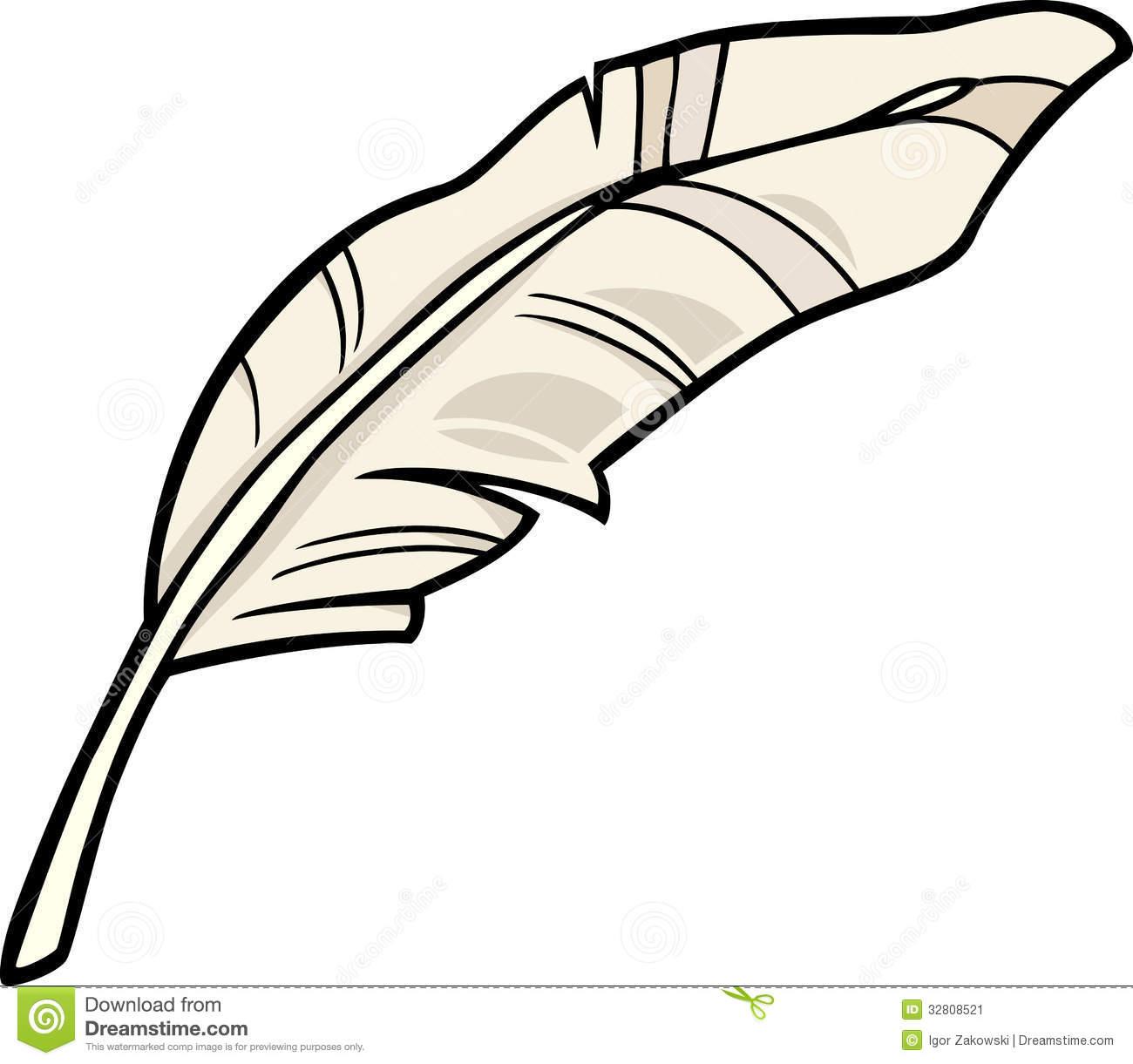Feather clip art cartoon .