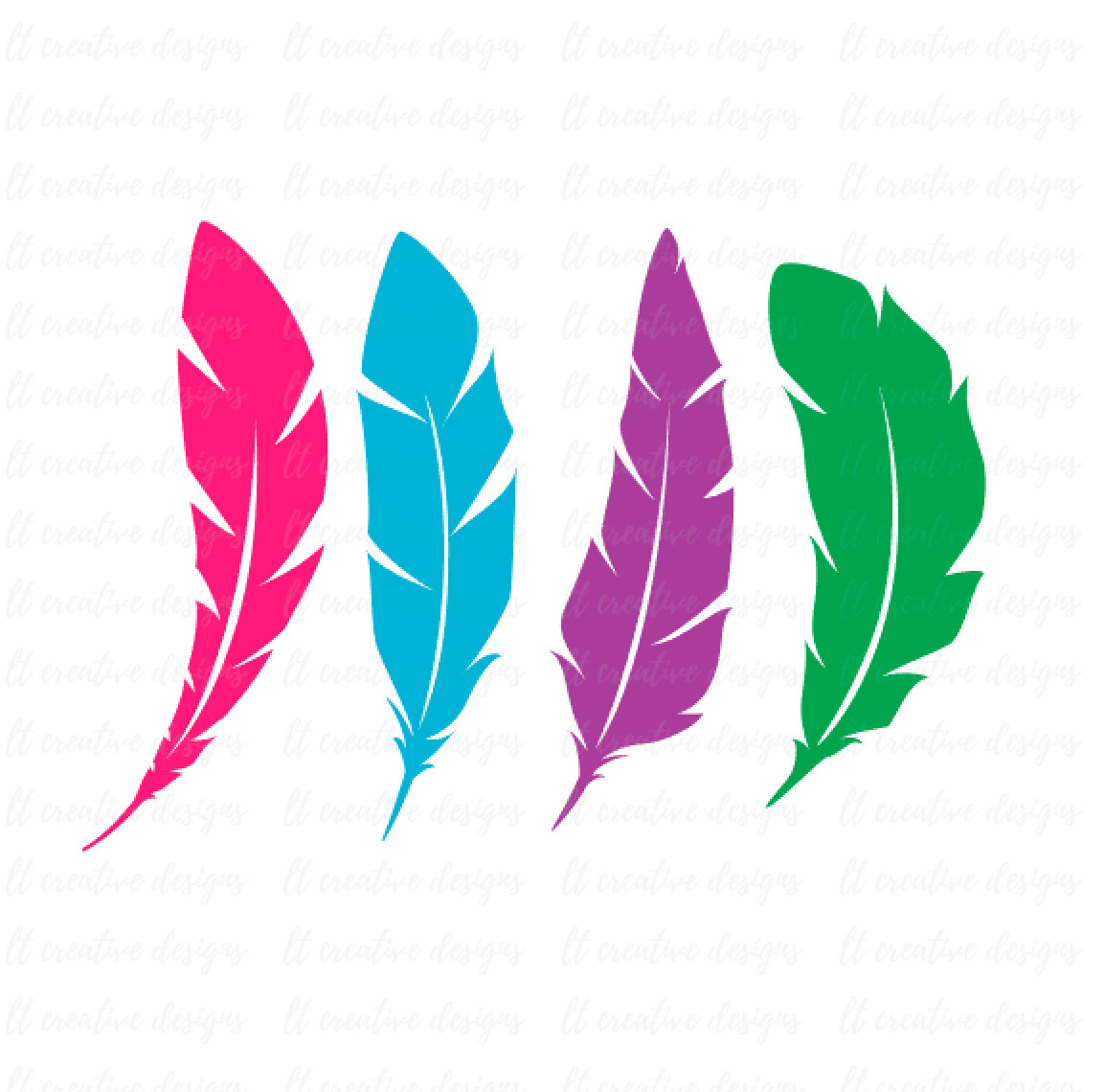 Feather Clip Art, Feather SVG, Feathers SVG, Feather PNG, Feather Set Svg, Cricut Cut Files, Silhouette Svg