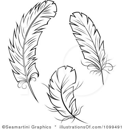 Feather Outline Clip Art | Feather Clip Art (rf) feathers clipart