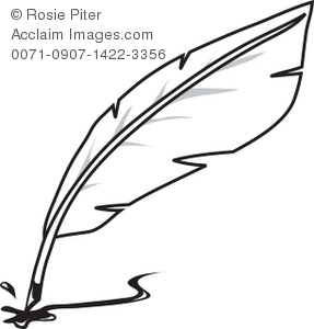 Feather pen clip art - .