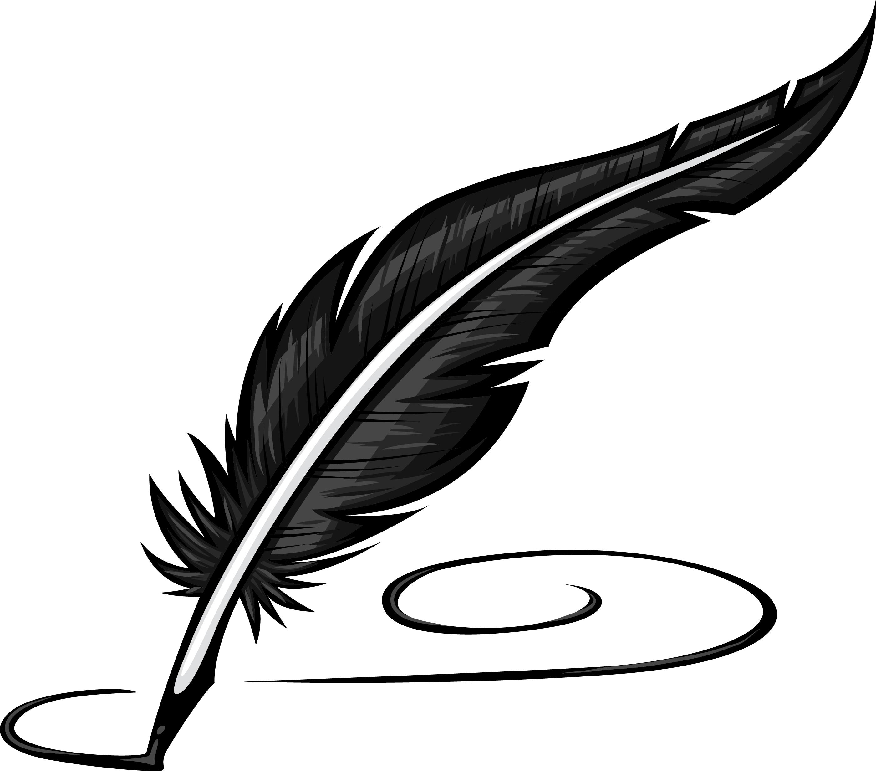 Feather Pen Clipart #1-Feather Pen Clipart #1-0