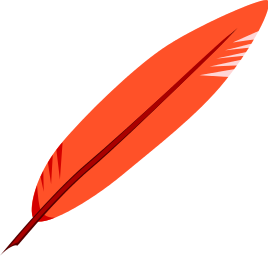 Feather Small Red