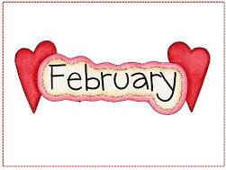 February and hearts