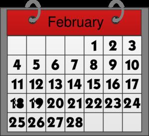 February Calendar Clip Art