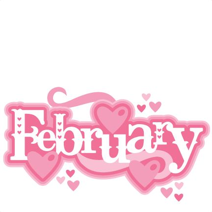February Title SVG scrapbook cut file cute clipart files for silhouette cricut pazzles free svgs free