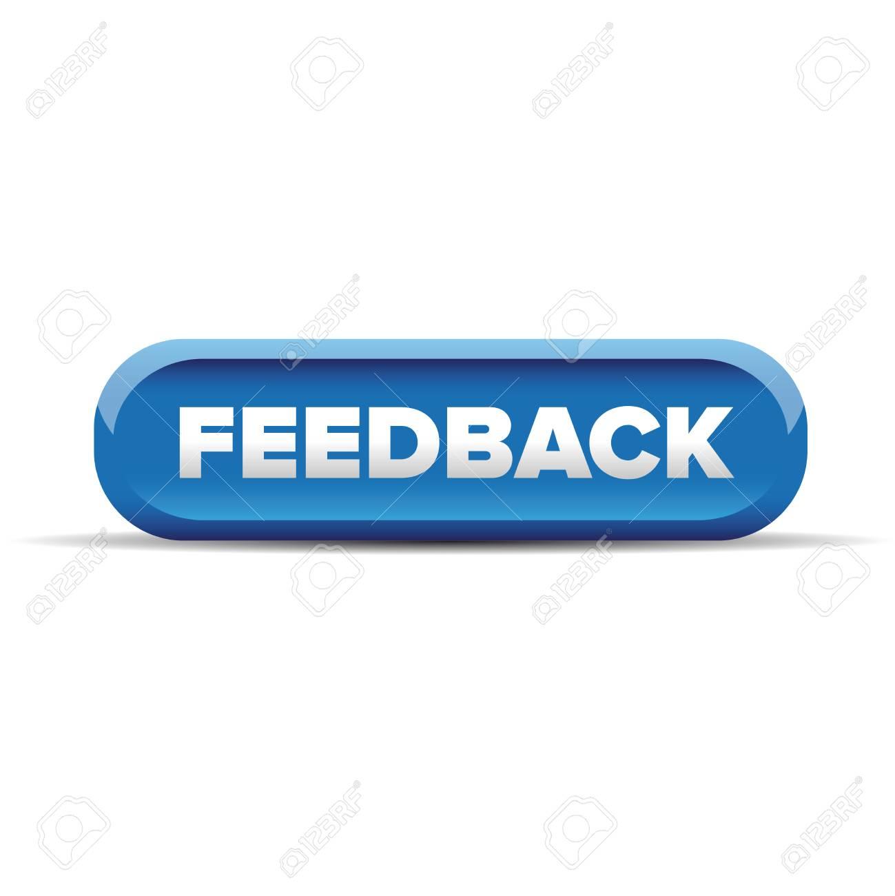 Feedback Button Blue Vector Stock Vector-Feedback button blue vector Stock Vector - 49307938-8