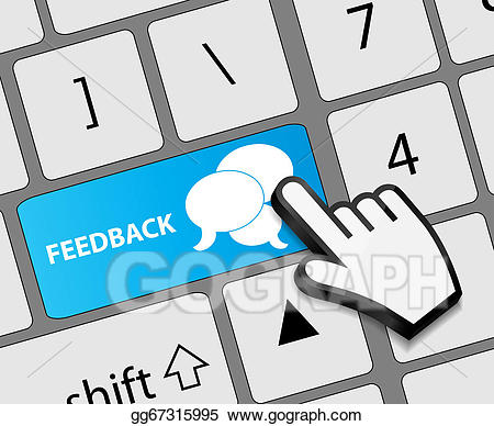 Keyboard Feedback Button With Mouse Hand-Keyboard feedback button with mouse hand cursor vector illustration-17