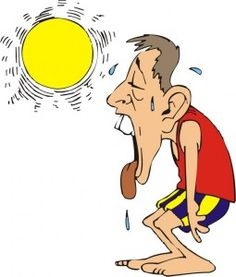 Feeling Hot Clipart Melting. Running in Hot Weather .