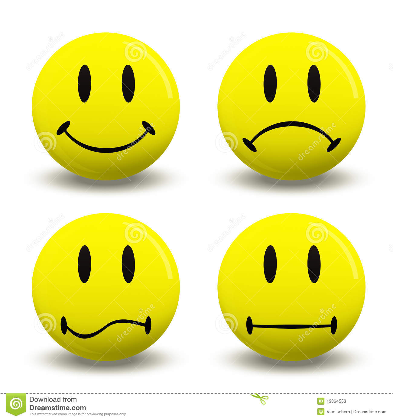 Feelings Faces Clip Art - Emotion Faces Clip Art