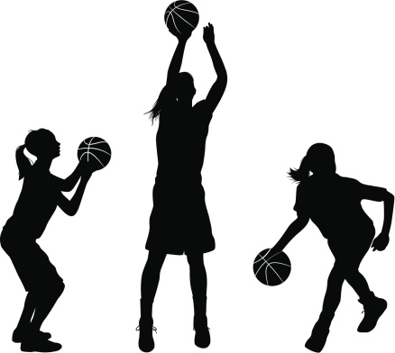 Female Basketball Player Clipart