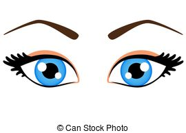 ... Female blue eyes - Blue Eyes Clipart