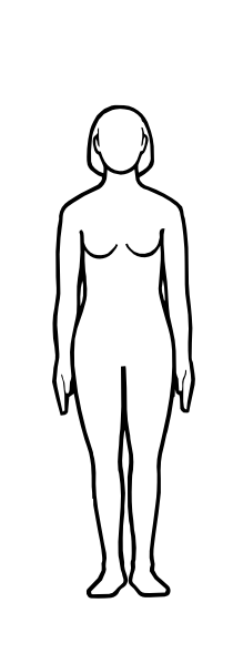Female Body Outline Template .-female body outline template .-14