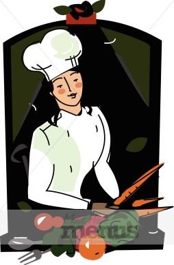 Female Chef Clipart