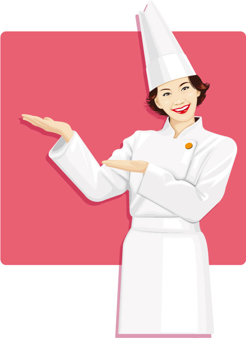 Female Chef Icon Clipart