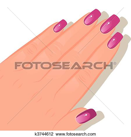 Female hand with manicured-Female hand with manicured-14