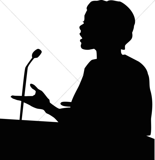 Female Speaker in Silhouette-Female Speaker in Silhouette-1