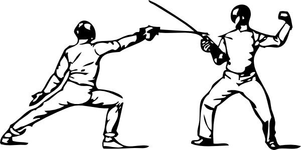 Fencing clip art-Fencing clip art-5
