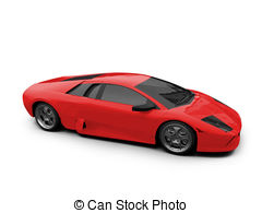 . ClipartLook.com Ferrari isolated red front view - isolated sport car on.