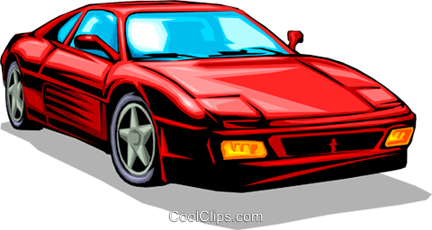 Ferrari Royalty Free Vector Clip Art illustration