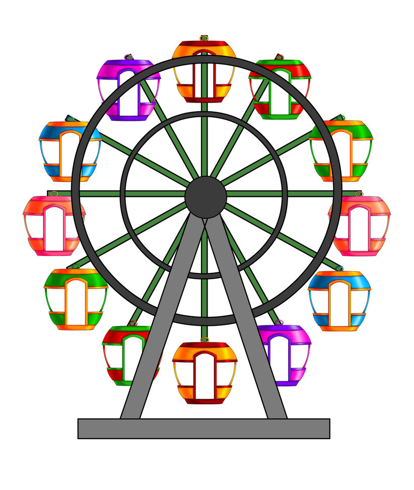 Ferris wheel by kalakaan on d - Ferris Wheel Clipart