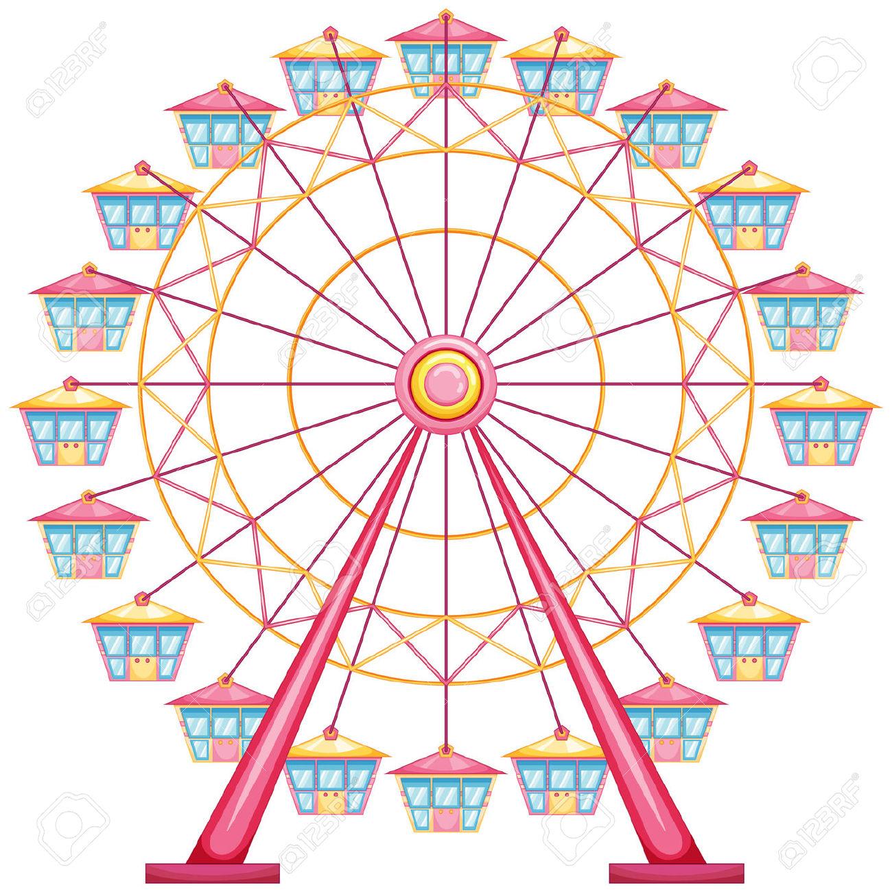 Ferris wheel clipart 2