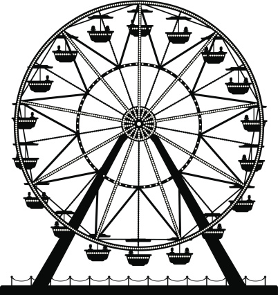 Ferris Wheel vector art .-Ferris Wheel vector art .-7