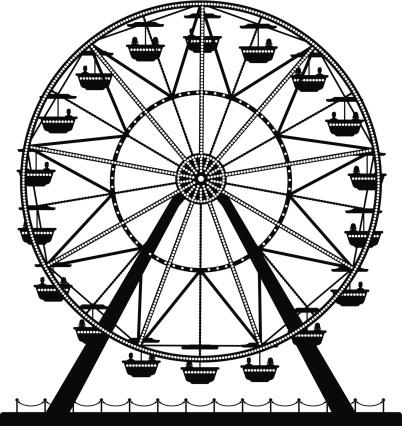 Ferris Wheel vector art .